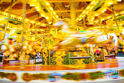 Photograph - Carousel At Speed by Colin Rayner