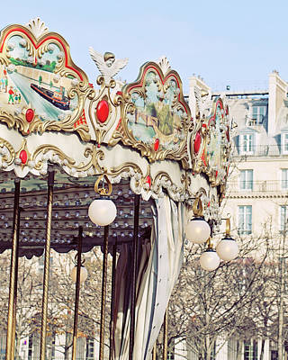 Photograph - Carousel At The Tuileries - Paris, France by Melanie Alexandra Price