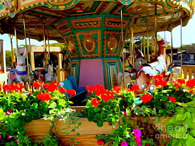 Digital Art - Carousel Beauty by Ed Weidman