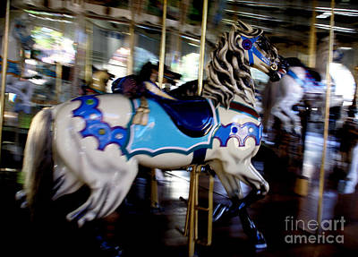 Photograph - Carousel Blue by Linda Shafer