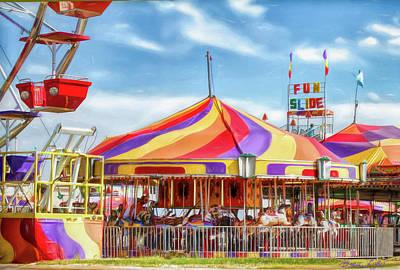 Digital Art - Carousel by Bonnie Willis