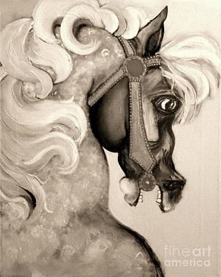 Mixed Media - Carousel by Carolyn Weltman