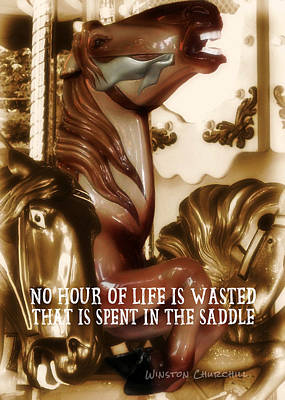 Carousel Color Quote Art Print by JAMART Photography