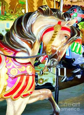 Photograph - Carousel Colors # 3 by Mel Steinhauer