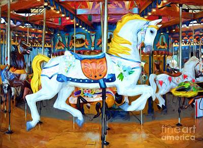 Photograph - Carousel Colors # 4 by Mel Steinhauer