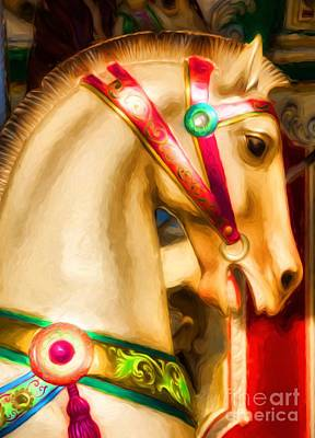 Photograph - Carousel Colors by Mel Steinhauer