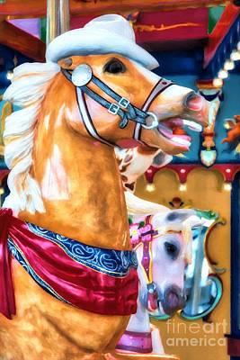 Photograph - Carousel Cowboy by Mel Steinhauer