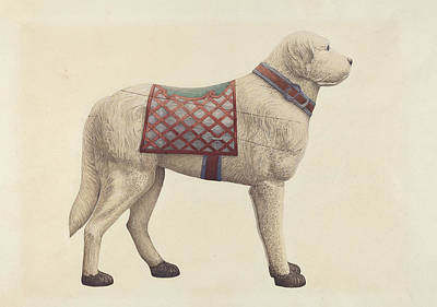 Puppy Drawing - Carousel Dog by Robert Pohle