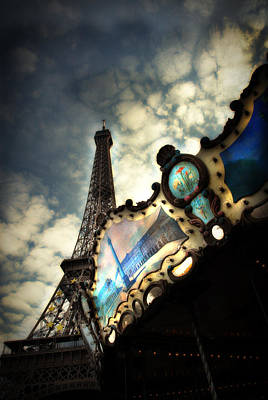 Carousel Eiffel Art Print by Cabral Stock