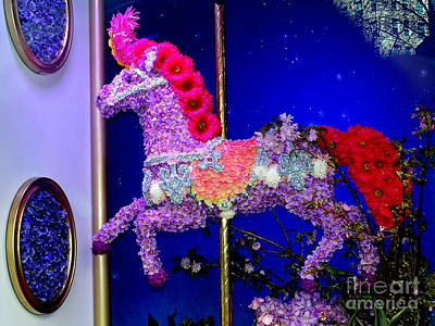 Photograph - Carousel Floral Beauty by Ed Weidman