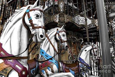 Antique Carousel Photograph - Carousel Fusion by John Rizzuto