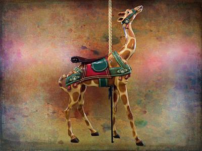 Photograph - Carousel Giraffe by Leslie Montgomery
