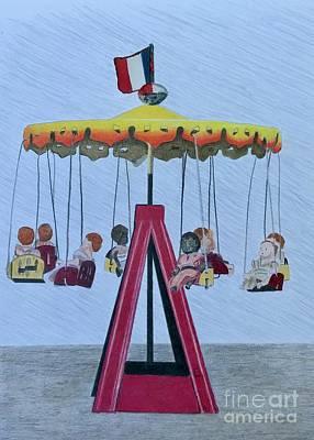 Drawing - Carousel by Glenda Zuckerman