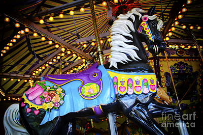 Photograph - Carousel Horse 1 by Bob Christopher