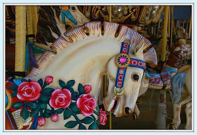 Photograph - Carousel Horses 3 by Allen Beatty