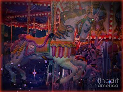 Carousel Horse Art Print by Annie Gibbons