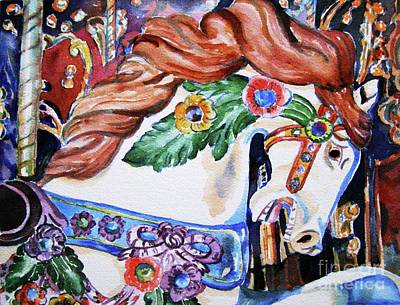 Carousel Horse Art Print by Mary Haley-Rocks