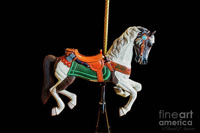 Photograph - Carousel Horse On Black by David Arment