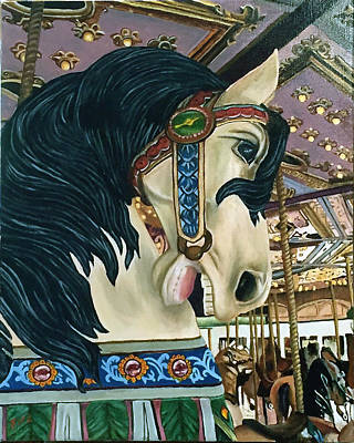 Painting - Carousel Horse by Rick Fitzsimons