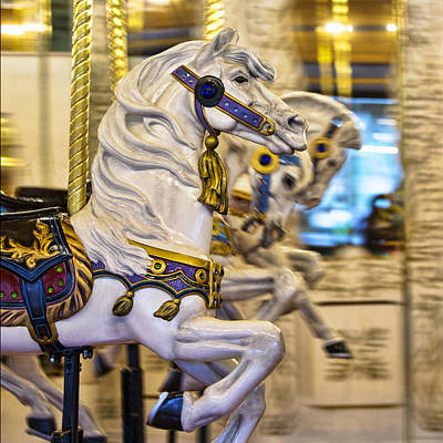 Photograph - Carousel Horse Square by Paul DeRocker