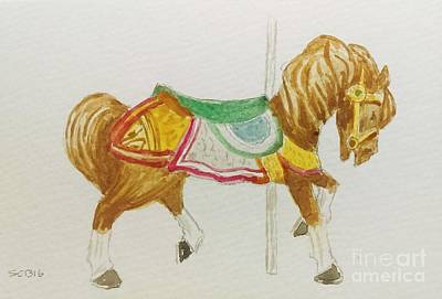 Painting - Carousel Horse by Stacy C Bottoms