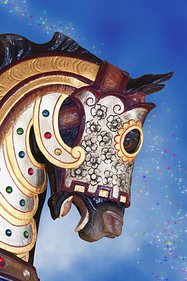 Carousel Horse Art Print by Tom Mc Nemar