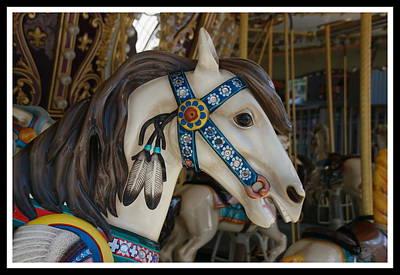 Photograph - Carousel Horses 6 by Allen Beatty