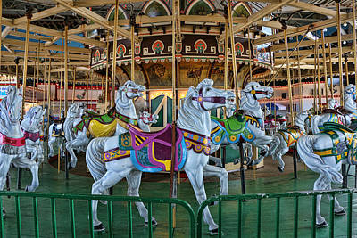 Photograph - Carousel Horses by Allen Beatty