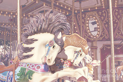 Photograph - Carousel Horses by Cindy Garber Iverson