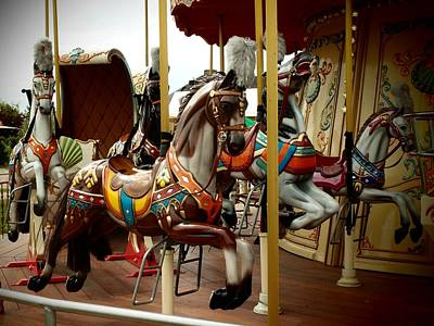 Photograph - Carousel Horses by Dora Hathazi Mendes