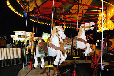 Photograph - Carousel Horses by Margie Avellino