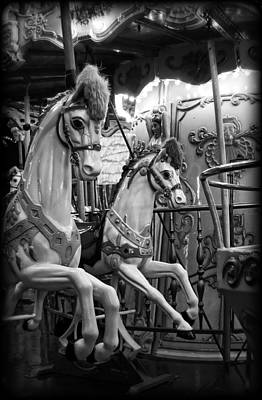 Photograph - Carousel Horses No. 1 by Tammy Wetzel