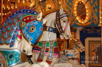 Carousel Horses Art Print by Patty Vicknair