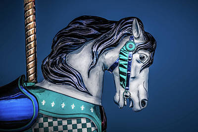 Photograph - Carousel In Blue  by Michael Arend