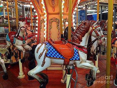 Photograph - Carousel Horses In Gatlinburg by Anne Sands
