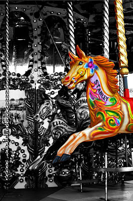 Carousel In Isolation Art Print
