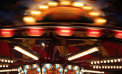 Photograph - Carousel In Motion by Mary Bedy