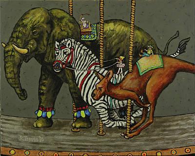 Carousel Kids 2 Art Print by Rich Travis