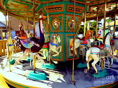 Digital Art - Carousel Magic by Ed Weidman