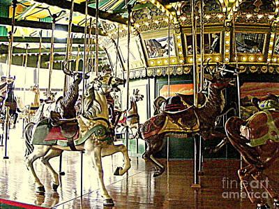 Photograph - Carousel Magic by Nancy Kane Chapman