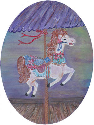 Carousel Art Print by Mikki Alhart