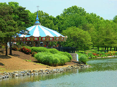 Photograph - Carousel Nestled In The Trees by Emmy Marie Vickers
