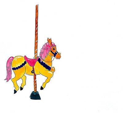 Carousel Pony Art Print by Leah Wiedemer