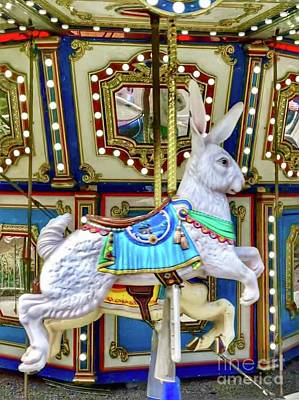 Photograph - Carousel Rabbit by Susan Garren