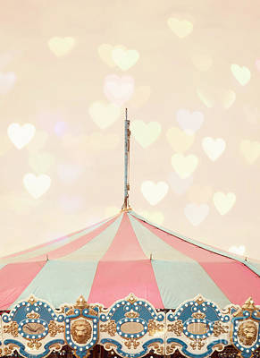 Carnival Art Photograph - Carousel Tent by Juli Scalzi