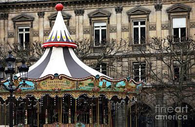 Photograph - Carousel Top In Paris by John Rizzuto