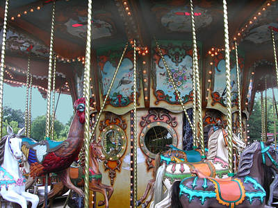 Photograph - Carousel With Mirrors by Anne Cameron Cutri