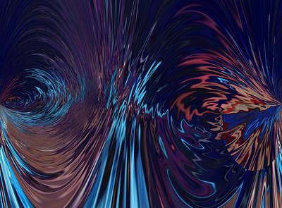 Abstract Seascape Mixed Media - Carpe Diem by Sir Josef - Social Critic - ART