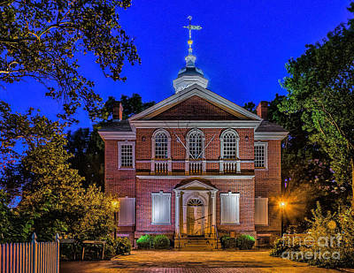 Photograph - Carpenter Hall At Night by Nick Zelinsky