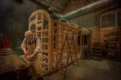 Photograph - Carpenter Working On Carriage by Clare Bambers
